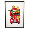 East End Prints London Bus Zoo by Dicky Bird Wall Art