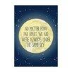 East End Prints Poster Distance Moon, Typografische Kunst