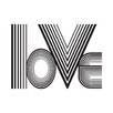 East End Prints Poster Love Lines, Typografische Kunst