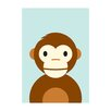 "East End Prints Poster ""Monkey"" von Dicky Bird, Grafikdruck"