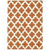 Asiatic Handgewebter Teppich Artisan in Terrakotta