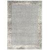 Asiatic Handgewebter Teppich Ascot in Silber