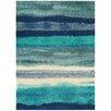 Asiatic Handgearbeiteter Teppich Boca in Blau
