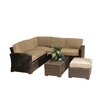 Creative Living South Seas Corner Sectional 5 Piece Seating Group With Cushions