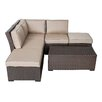 Creative Living South Seas Corner Arrow Sectional 6 Piece Seating Group with Cushions