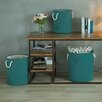 Creative Living 3 Piece Round Folding Storage Laundry Basket Set