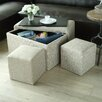 Creative Living 5 Piece Multi Functional Storage Bench Set