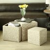 Creative Living 4 Piece Multi Functional Storage Ottoman Set
