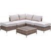 Creative Living North Shore 6 Piece Arrow Deep Seating Group with Cushion