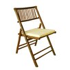 ZEW Inc Folding Dining Chair with Cushion
