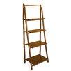 ZEW Inc Bamboo 4 Tier Decorative Accent Shelves Bookcase