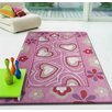 Rug Factory Plus Zoomania Hearts Pink Children's Area Rug