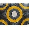 Rug Factory Plus Living Shag Hand-Tufted Gray/Yellow Area Rug