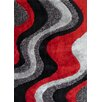 Rug Factory Plus Hand-Tufted Gray/Red Area Rug