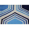 Rug Factory Plus Transition Hand-Tufted Blue Area Rug
