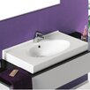 CeraStyle by Nameeks Rita Rectangle White Ceramic Wall Mounted or Self Rimming Sink with Overflow