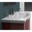 CeraStyle by Nameeks Argona Rectangle White Ceramic Wall Mounted or Self Rimming Sink with Overflow