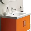 CeraStyle by Nameeks City Rectangle White Ceramic Wall Mounted or Self Rimming Sink with Overflow