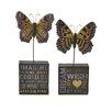 Blossom Bucket 2 Piece Imagine/Dream with Butterflies Letter Blocks Set