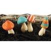 3 Piece Mushroom Garden Stake Set - Blossom Bucket Garden Statues and Outdoor Accents
