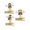 Blossom Bucket 3 Piece Standing Snowmen with Vests Clips Ornament Set (Set of 2)