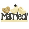 Blossom Bucket Just Married with Birds Letter Block