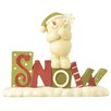 Blossom Bucket Snow on Base with Snowman Figurine