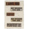 Blossom Bucket 'I Love You' Sign Wall Décor with Easel