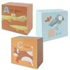 Blossom Bucket 3 Piece ABC Children Pictures Block Set