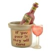 Blossom Bucket 'If You Pour It' Wine Bottle With Glass Sculpture
