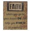 Blossom Bucket 'Faith' Box Sign Wall Décor