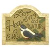 Blossom Bucket Heaven and Nature Bird by Deb Strain Textual Art on Plaque