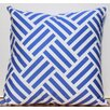 Auburn Textile Cross Stripes Cotton Throw Pillow