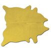 Natural Rugs Geneva Yellow Solid Area Rug