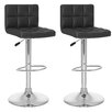 dCOR design CorLiving Adjustable Height Swivel Bar Stool with Cushion (Set of 2)