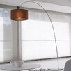 "Morosini Fog 85.5"" Arched Floor Lamp"