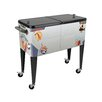 Sainty International 80 Qt. Warbird Pinup Girls Rolling Patio Cooler