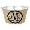 A Southern Bucket Triple Monogram Burlap Beverage Tub