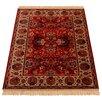 Barefoot Artsilk Rugs Handgewebter Teppich Indian Agra in Rot