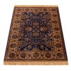Barefoot Artsilk Rugs Indian Agra Blue Area Rug