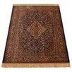 Barefoot Artsilk Rugs Handgefertigter Teppich Persian Medallion in Braun