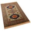 Barefoot Artsilk Rugs Teppich Afghan Kazak in Grün