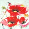 Selections by Chaumont Poppy Trio Painting Print on Canvas