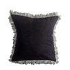 Pur Modern Alexander Les Plumes Feather Trim Throw Pillow