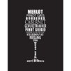 Evive Designs 'Wine' by Susan Newberry Textual Art in Black and White