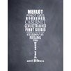 Evive Designs 'Wine Glass (chalkboard)' by Susan Newberry Textual Art