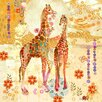 Marmont Hill Giraffes' Art Print Wrapped on Canvas