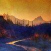 Marmont Hill Leinwandbild Sunset Saguaros Stream, Kunstdruck