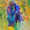 Marmont Hill Gorilla Jungle Thinker' by Evelia Art Print Wrapped on Canvas