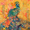 Marmont Hill Leinwandbild Afrikarma Peacock, Kunstdruck